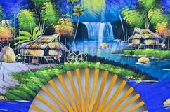 Картины на вентиляторе Стоковые Изображения RF