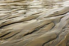 Картины на песке от проточной воды Стоковое Изображение RF