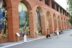 Картины на стенах kolomna kremlin Россия Стоковые Фото