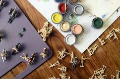 Картины на figurines для модельной диорамы Стоковые Изображения