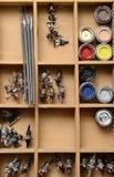 Картины на figurines для модельной диорамы Стоковые Фото