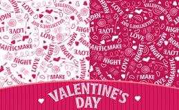 2 картины дня валентинки иллюстрация вектора