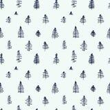 Картины простого шаржа безшовные с милыми деревьями иллюстрация штока