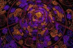 Картины пурпура и желтого света Стоковые Фото