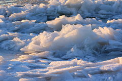 Картины сделанные заморозком на замороженном бассейне Стоковые Изображения
