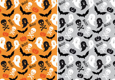 Картины хеллоуина безшовные, вектор Стоковое Фото