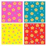 картины цветков безшовные Стоковые Изображения RF