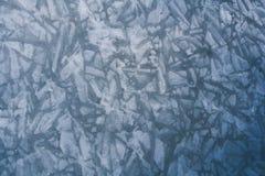 Картины льда на замороженном реке Стоковые Изображения