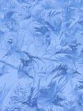 Картины льда на стекле в зиме Стоковая Фотография