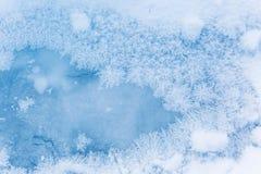 Картины Frost на льде Красотка в природе стоковое изображение rf