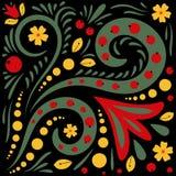 Картины khokhloma красивого вектора флористические Стоковые Фотографии RF