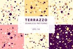 Картины Terrazzo безшовные в декоративном стиле стоковая фотография