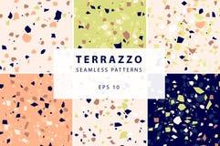 Картины Terrazzo безшовные в декоративном стиле стоковые фото