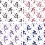 Картины tiling вектора безшовные - романтичные цветки Стоковые Изображения