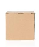 Картонная коробка на белизне Стоковые Фотографии RF