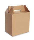 Картонная коробка с ручкой Стоковые Изображения RF