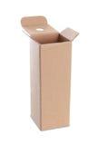 Картонная коробка с ручкой Стоковые Изображения