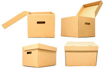 Картонная коробка для объекта пакета Стоковая Фотография RF