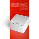 Картонная коробка mockup-01 Стоковые Фотографии RF
