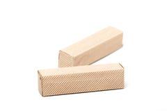 2 картонной коробки, изолированной на белизне Стоковое Изображение