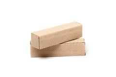 2 картонной коробки, изолированной на белизне Стоковое Изображение RF