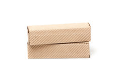 2 картонной коробки, изолированной на белизне Стоковые Изображения RF