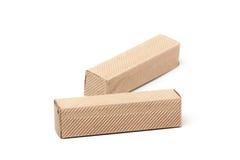 2 картонной коробки, изолированной на белизне Стоковые Фотографии RF