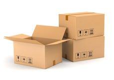 3 картонной коробки Стоковая Фотография