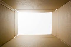 картон коробки внутрь Стоковое Изображение
