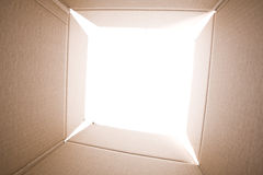 картон коробки внутрь Стоковые Фото