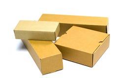 картон коробки коричневый стоковая фотография rf