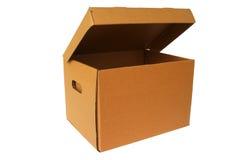 картон коробки коричневый Стоковое фото RF