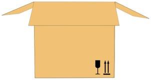 картон коробки открытый также вектор иллюстрации притяжки corel иллюстрация штока