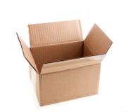 картон коробки открытый Стоковые Фотографии RF
