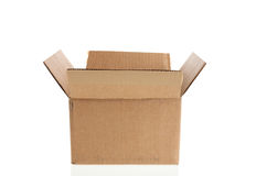 картон коробки открытый Стоковое Изображение RF
