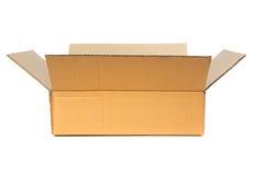 картон коробки открытый Стоковая Фотография RF