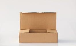 картон коробки открытый Стоковые Изображения