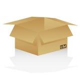 картон коробки открытый иллюстрация штока