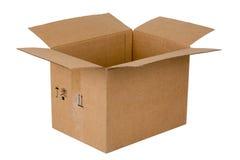 картон коробки открытый Стоковое Изображение