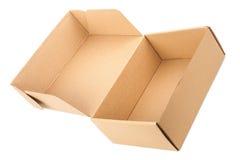 картон коробки открытый Стоковые Изображения RF