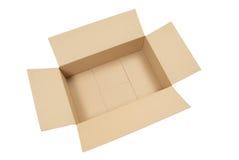 картон коробки пустой раскрывает Стоковое Изображение