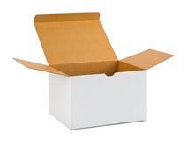 картон коробки пустой Стоковая Фотография