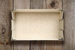 картон коробки пустой Стоковые Изображения RF