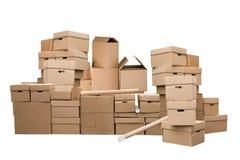 картон коробок коричневый различный Стоковые Фотографии RF