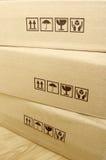 картон коробок коричневый Стоковые Изображения