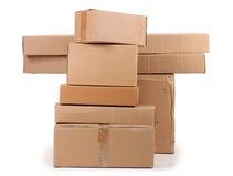 картон коробок коричневый Стоковое Изображение