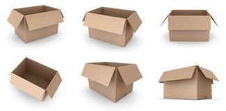картон коробок открытый иллюстрация вектора