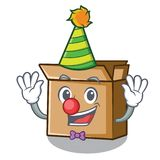 Картон мультфильма клоуна помещенный рядом со стулом иллюстрация штока