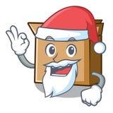 Картон мультфильма Санта помещенный рядом со стулом бесплатная иллюстрация