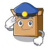 Картон полиции помещен над таблицей мультфильма бесплатная иллюстрация